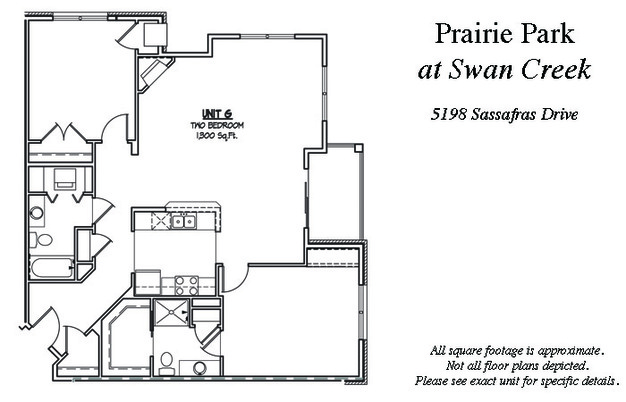 2 Bedrooms 1 Bathroom Apartment for rent at Prairie Park At Swan Creek Rentals in Fitchburg, WI