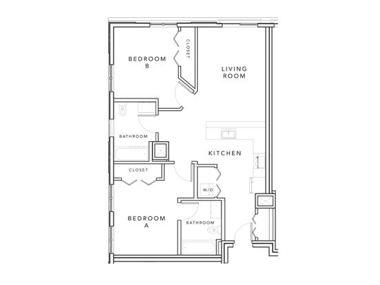 2 Bedrooms 2 Bathrooms Apartment for rent at Stonefire in Berkeley, CA