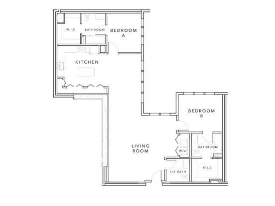 2 Bedrooms 3 Bathrooms Apartment for rent at Stonefire in Berkeley, CA