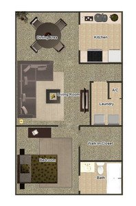 1 Bedroom 1 Bathroom Apartment for rent at Gayoso House in Memphis, TN