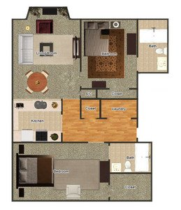 2 Bedrooms 2 Bathrooms Apartment for rent at Gayoso House in Memphis, TN