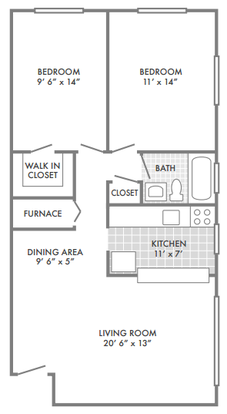 2 Bedrooms 1 Bathroom Apartment for rent at Bel Aire Apartments in St Louis, MO