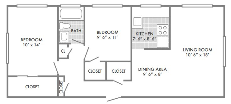 2 Bedrooms 1 Bathroom Apartment for rent at Bevo Apartments in St Louis, MO