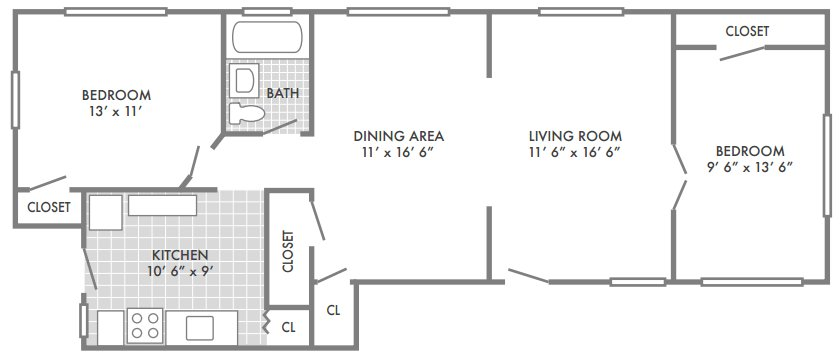 2 Bedrooms 1 Bathroom Apartment for rent at Southwood Apartments in St Louis, MO