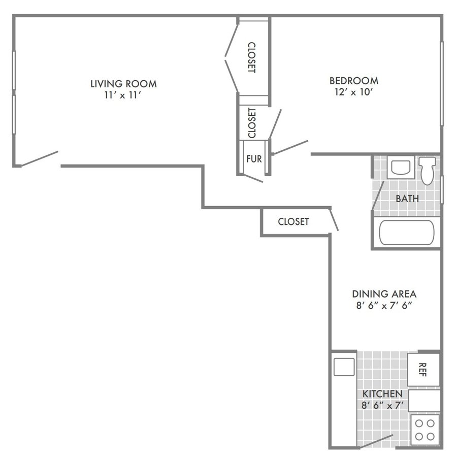 1 Bedroom 1 Bathroom Apartment for rent at Forest View East in St Louis, MO