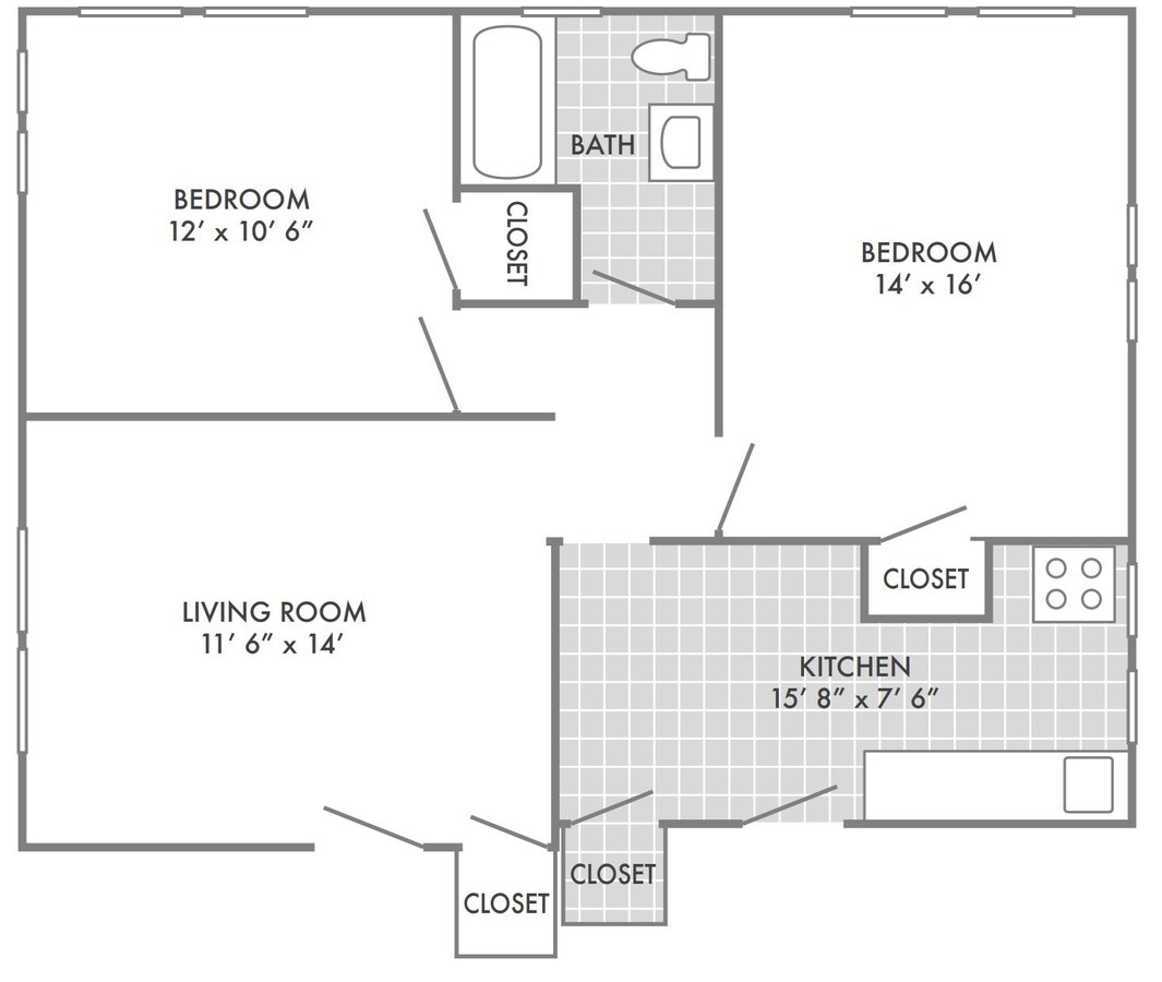 2 Bedrooms 1 Bathroom Apartment for rent at Forest View East in St Louis, MO
