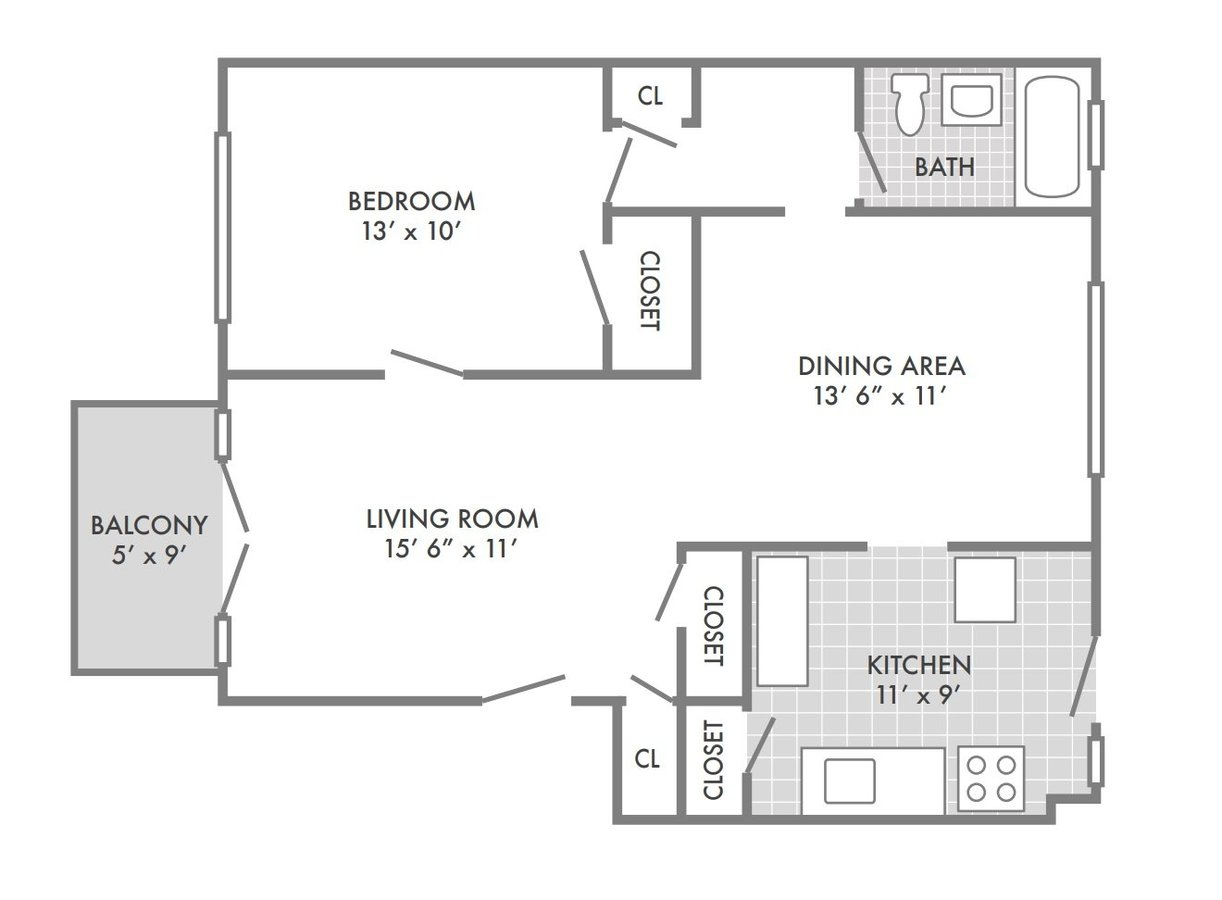 1 Bedroom 1 Bathroom Apartment for rent at Southwood Apartments in St Louis, MO