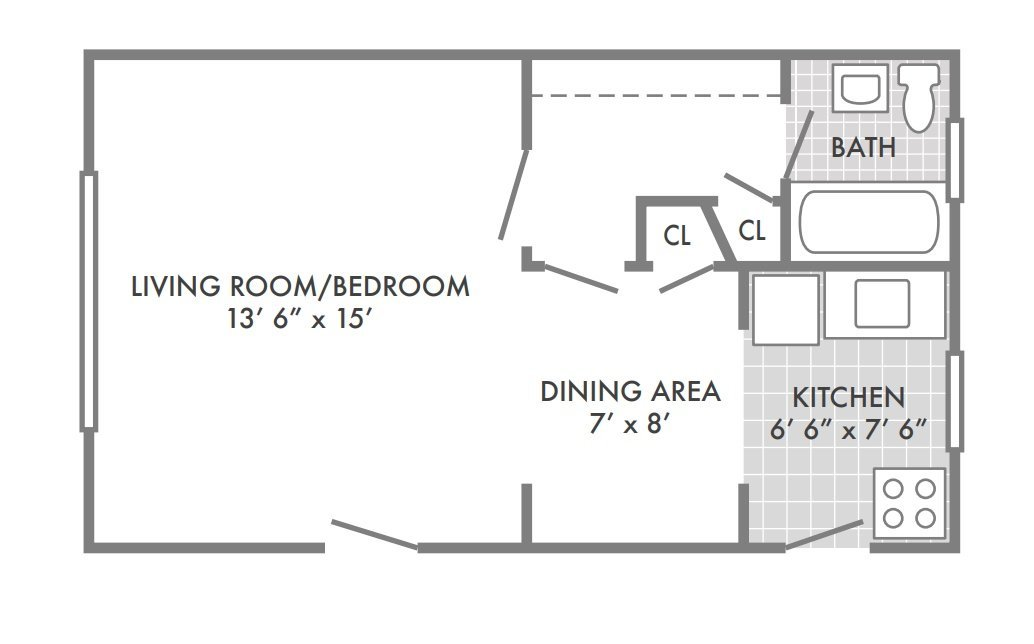 Studio 1 Bathroom Apartment for rent at Southwood Apartments in St Louis, MO