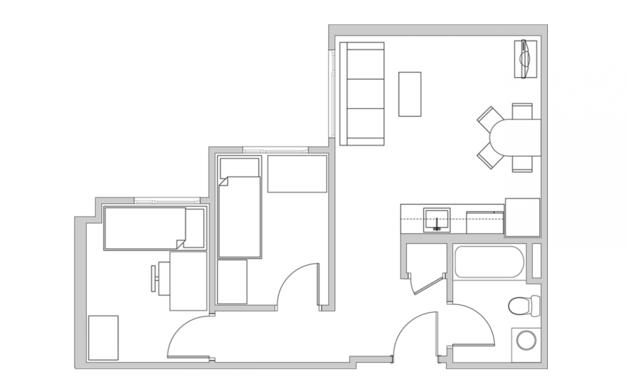 2 Bedrooms 1 Bathroom Apartment for rent at The Metropolitan in Berkeley, CA