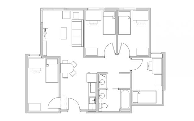 4 Bedrooms 1 Bathroom Apartment for rent at The Metropolitan in Berkeley, CA