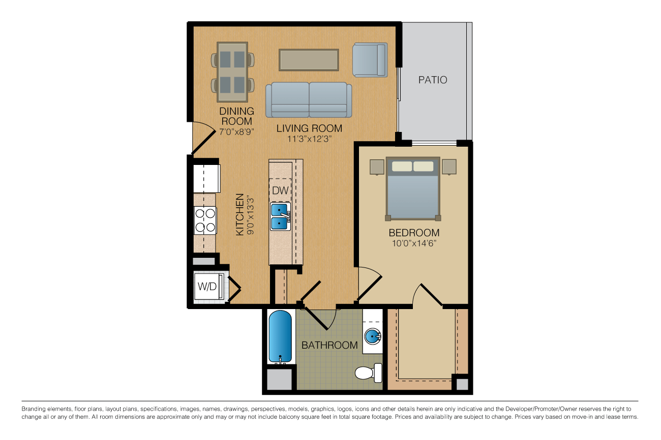 1 Bedroom 1 Bathroom Apartment for rent at Fourth & U in Berkeley, CA