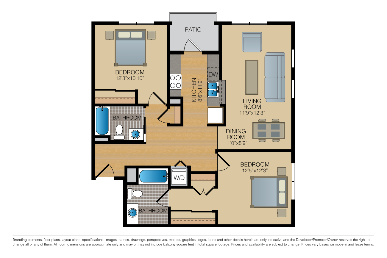 2 Bedrooms 2 Bathrooms Apartment for rent at Fourth & U in Berkeley, CA