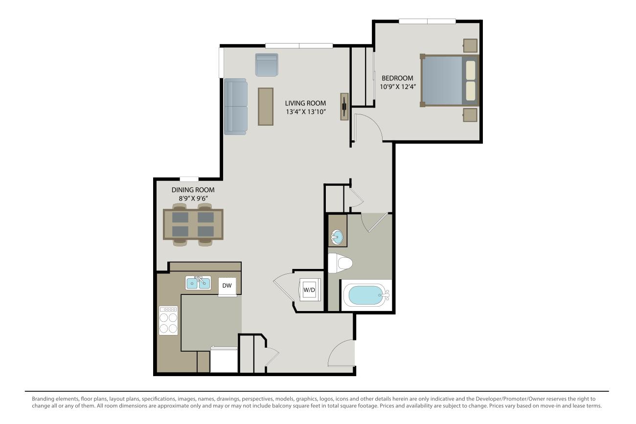 1 Bedroom 1 Bathroom Apartment for rent at Villa Granada in Santa Clara, CA