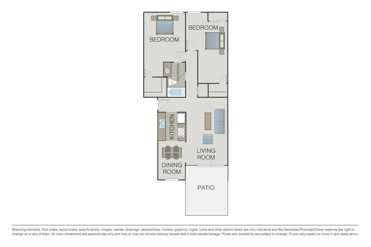 2 Bedrooms 1 Bathroom Apartment for rent at 1000 Kiely in Santa Clara, CA