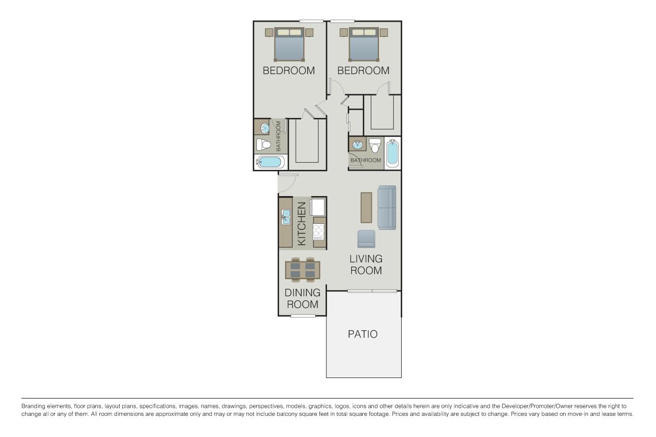 2 Bedrooms 2 Bathrooms Apartment for rent at 1000 Kiely in Santa Clara, CA