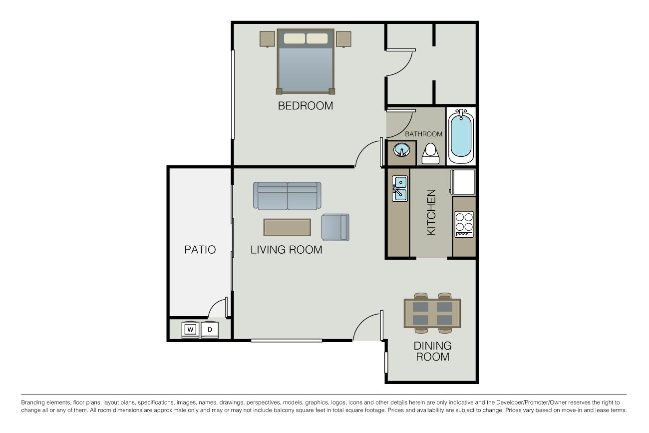 1 Bedroom 1 Bathroom Apartment for rent at Le Parc Apartments in Santa Clara, CA