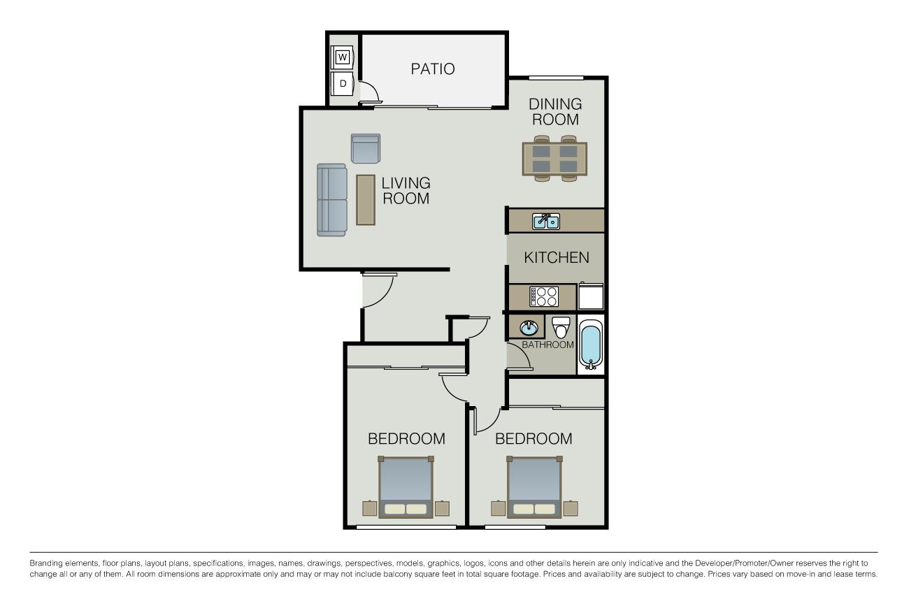 2 Bedrooms 1 Bathroom Apartment for rent at Le Parc Apartments in Santa Clara, CA
