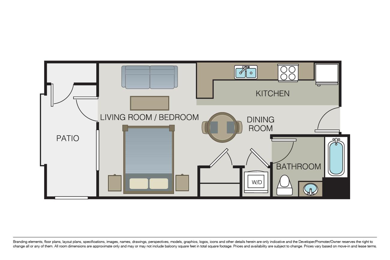 Studio 1 Bathroom Apartment for rent at Marquis in San Jose, CA