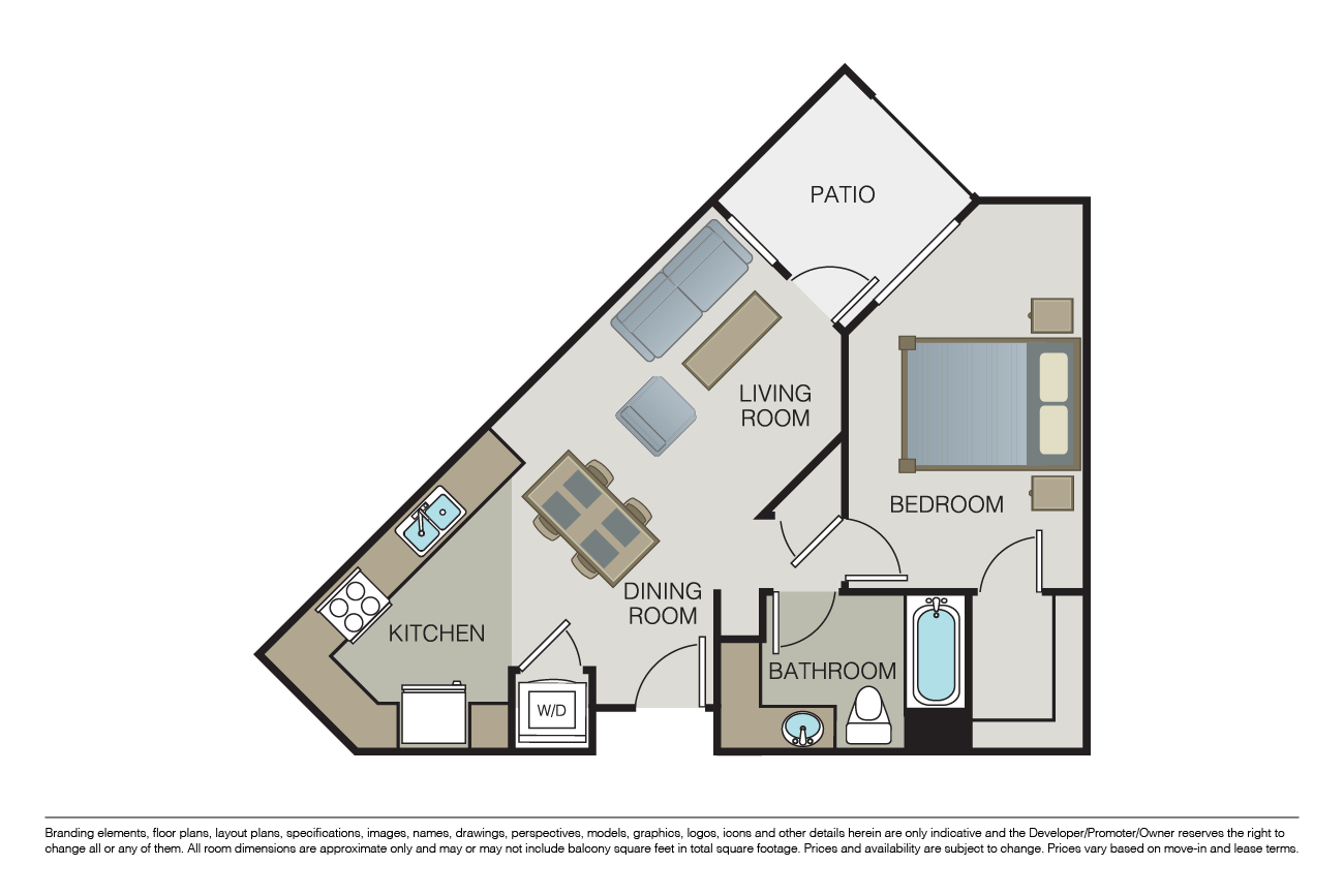 1 Bedroom 1 Bathroom Apartment for rent at Marquis in San Jose, CA