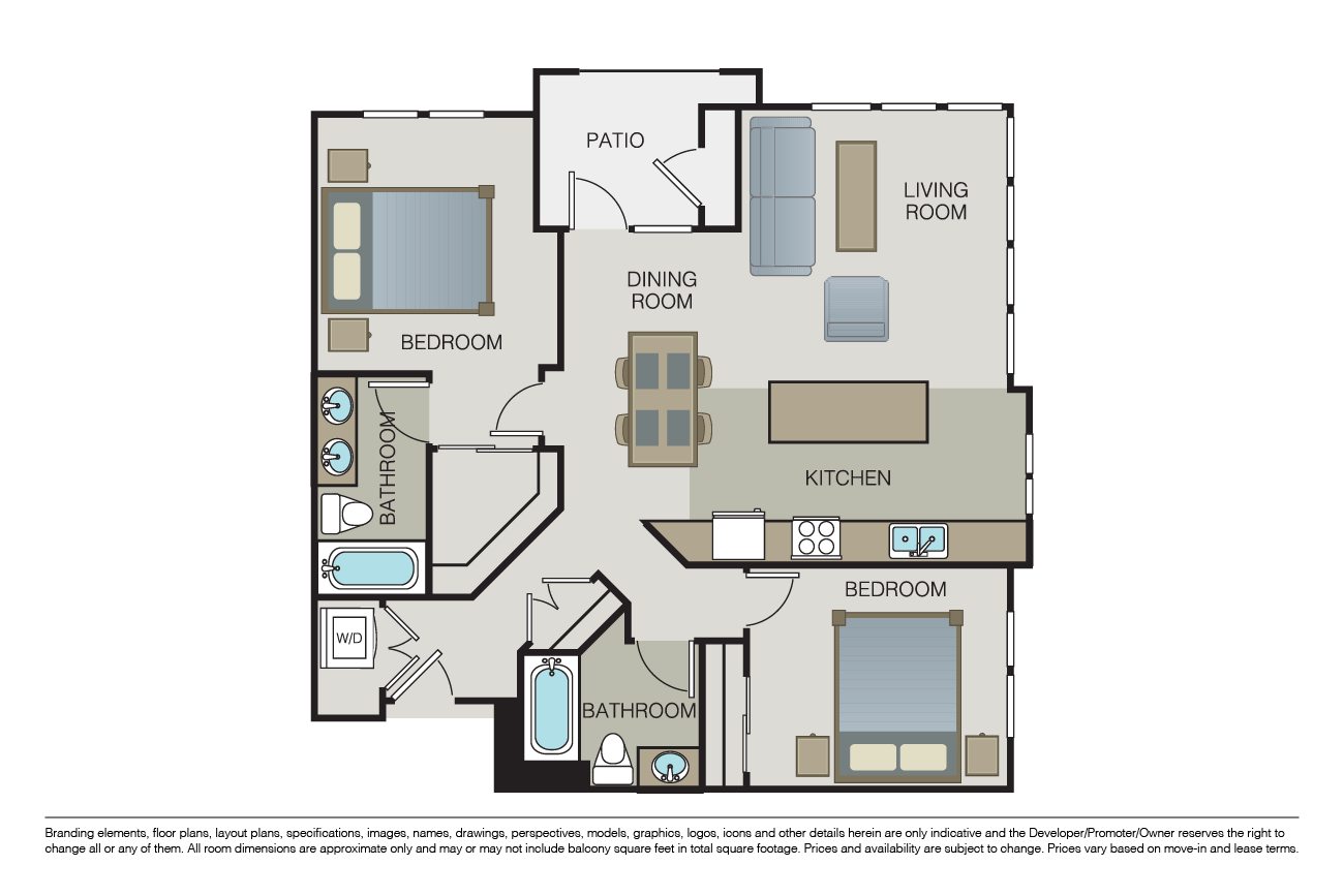 2 Bedrooms 2 Bathrooms Apartment for rent at Marquis in San Jose, CA