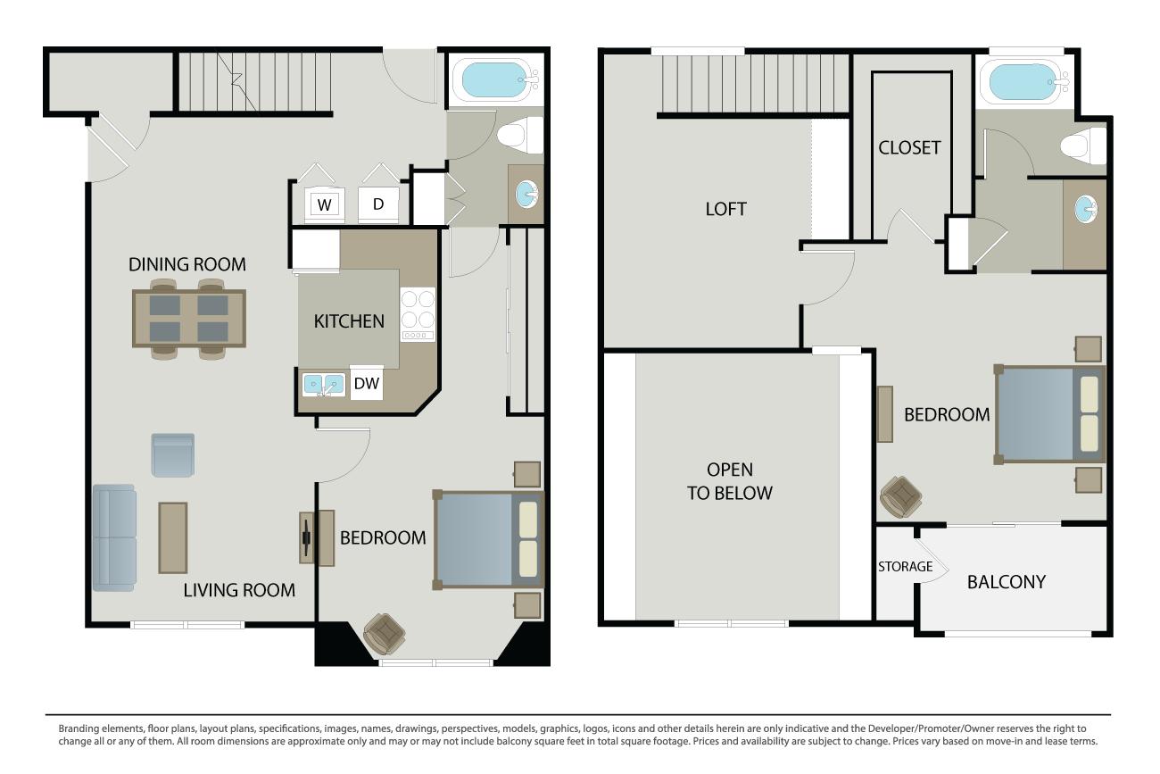 2 Bedrooms 2 Bathrooms Apartment for rent at The Esplanade in San Jose, CA