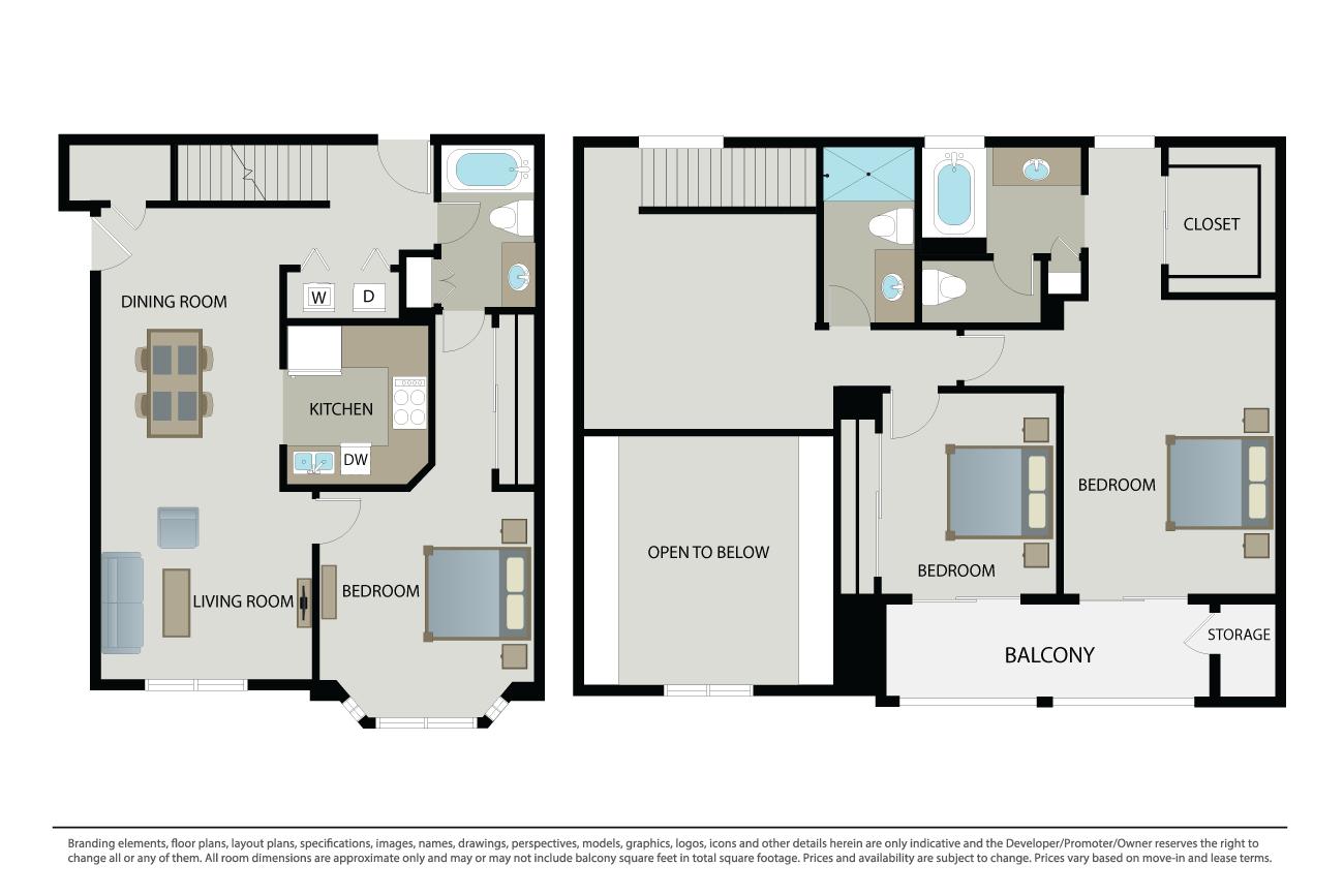 3 Bedrooms 3 Bathrooms Apartment for rent at The Esplanade in San Jose, CA