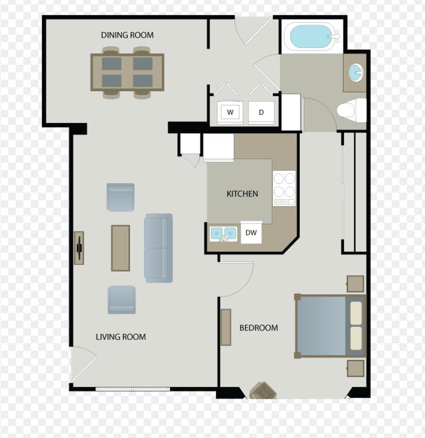 1 Bedroom 1 Bathroom Apartment for rent at The Esplanade in San Jose, CA