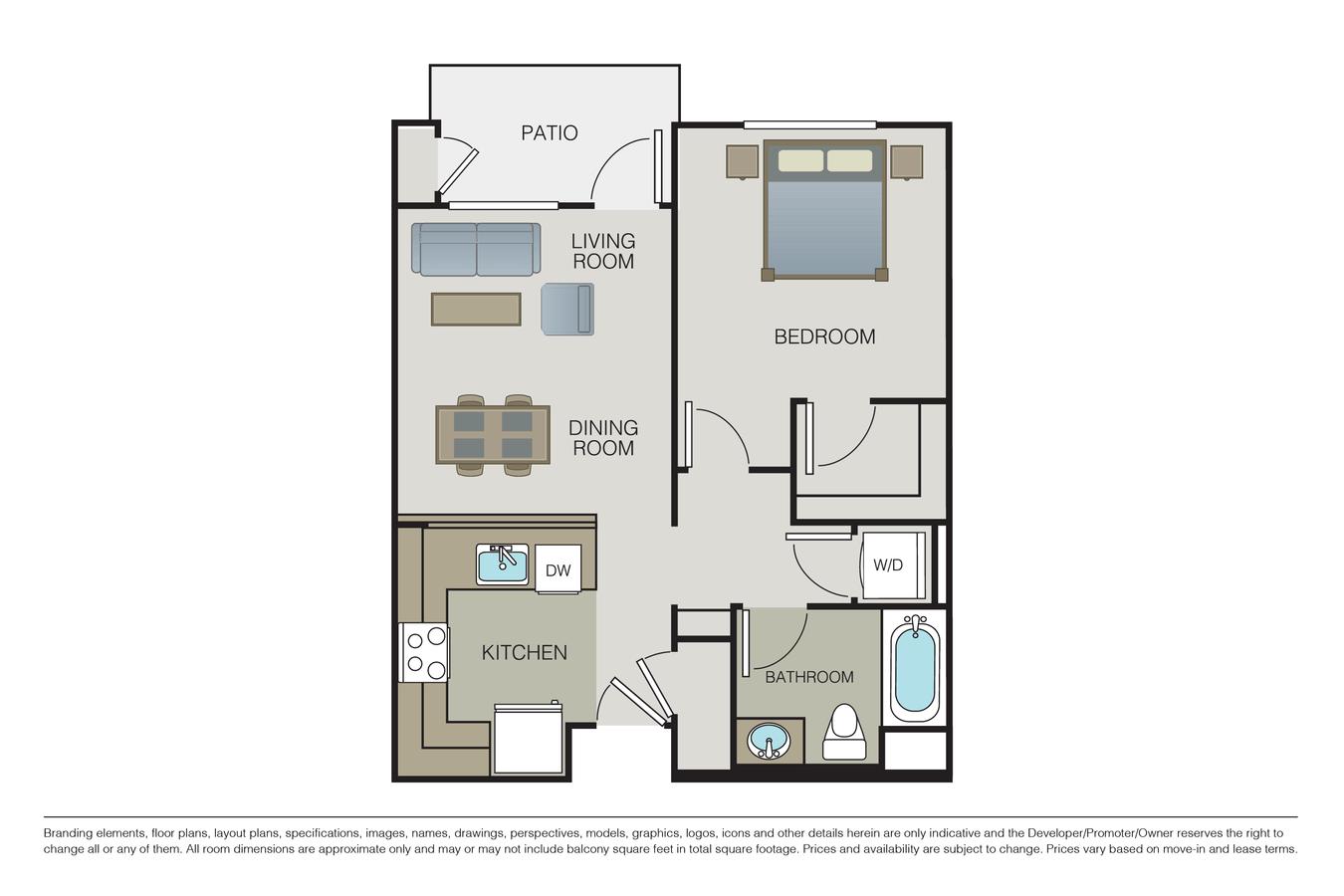 1 Bedroom 1 Bathroom Apartment for rent at Mio Apartments in San Jose, CA