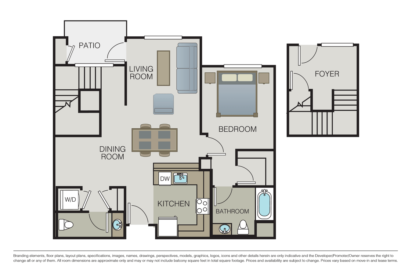 1 Bedroom 2 Bathrooms Apartment for rent at Mio Apartments in San Jose, CA