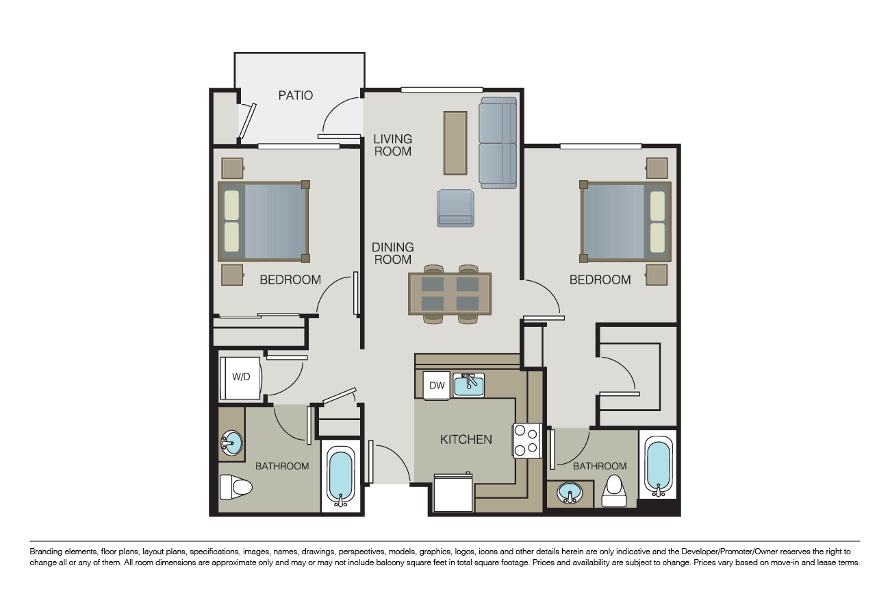 2 Bedrooms 2 Bathrooms Apartment for rent at Mio Apartments in San Jose, CA