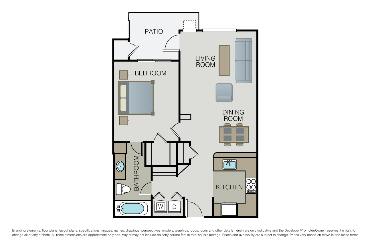 1 Bedroom 1 Bathroom Apartment for rent at Waterford Place in San Jose, CA