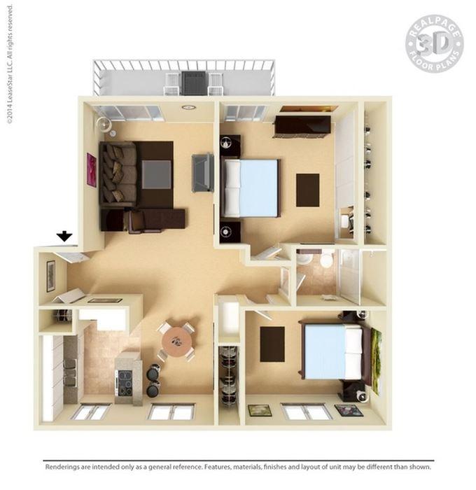 2 Bedrooms 1 Bathroom Apartment for rent at Lawrence Road Apartments in Santa Clara, CA