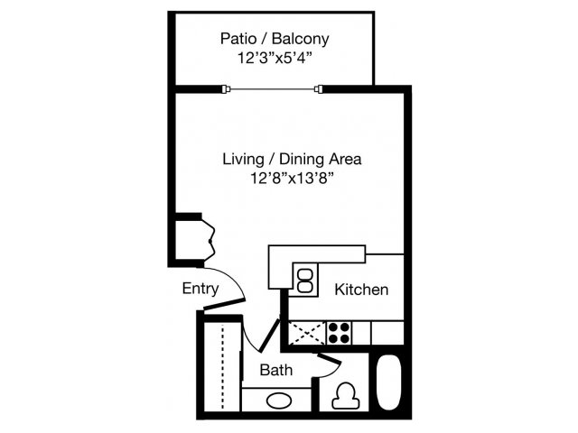 Studio 1 Bathroom Apartment for rent at Eaves West Valley in San Jose, CA