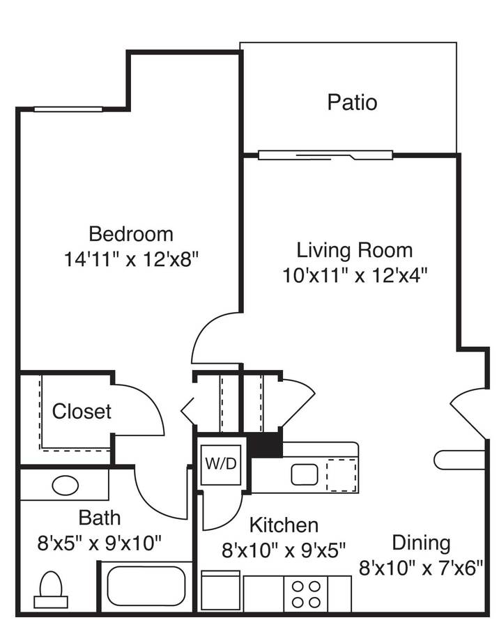 1 Bedroom 1 Bathroom Apartment for rent at Eaves West Valley in San Jose, CA