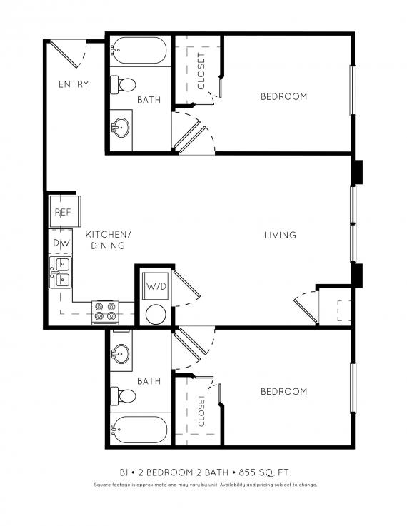 2 Bedrooms 2 Bathrooms Apartment for rent at Stillwater Flats in Stillwater, OK