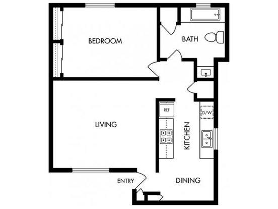 1 Bedroom 1 Bathroom Apartment for rent at Solera in Santa Clara, CA