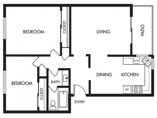 2 Bedrooms 1 Bathroom Apartment for rent at Solera in Santa Clara, CA