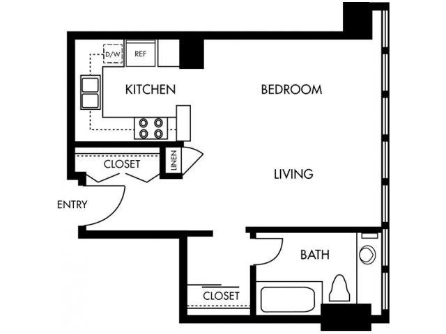 Studio 1 Bathroom Apartment for rent at 1900 Ocean Beach Club in Long Beach, CA