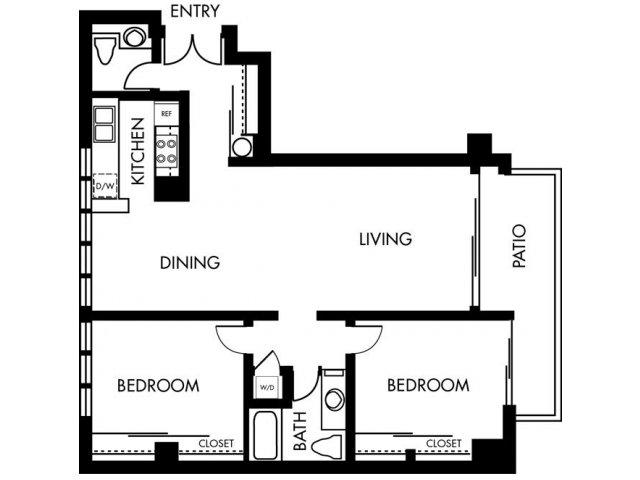 2 Bedrooms 1 Bathroom Apartment for rent at 1900 Ocean Beach Club in Long Beach, CA