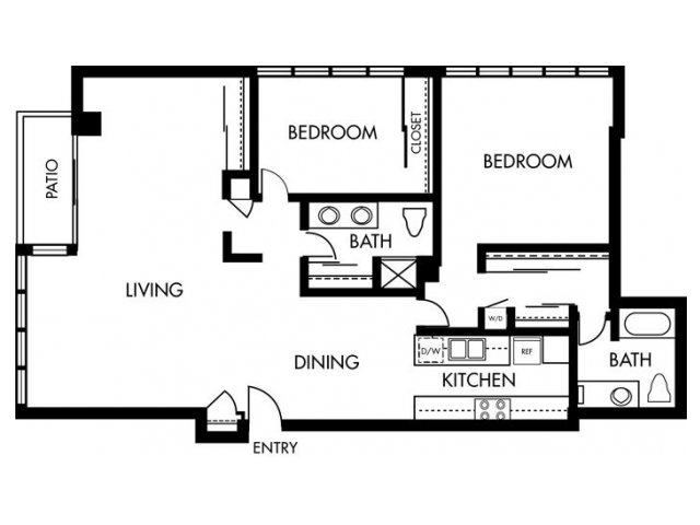 2 Bedrooms 2 Bathrooms Apartment for rent at 1900 Ocean Beach Club in Long Beach, CA