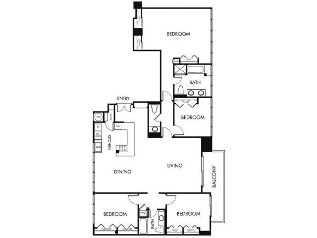4 Bedrooms 2 Bathrooms Apartment for rent at 1900 Ocean Beach Club in Long Beach, CA