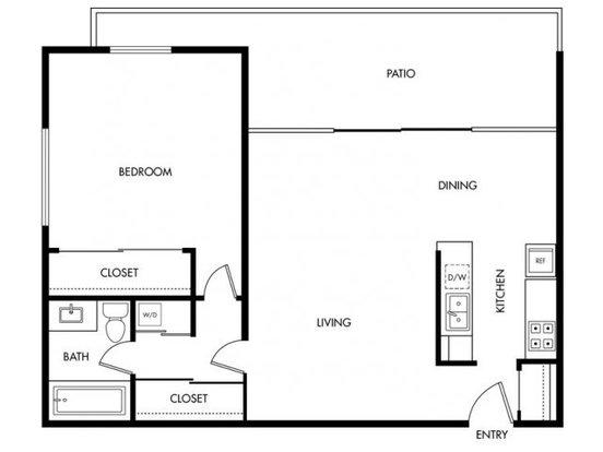 1 Bedroom 1 Bathroom Apartment for rent at Bay Tree in Los Gatos, CA