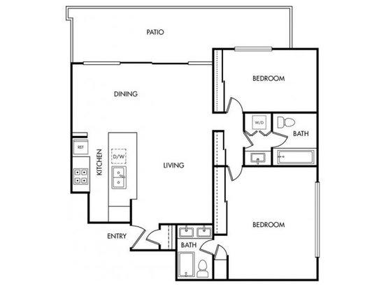 2 Bedrooms 2 Bathrooms Apartment for rent at Bay Tree in Los Gatos, CA