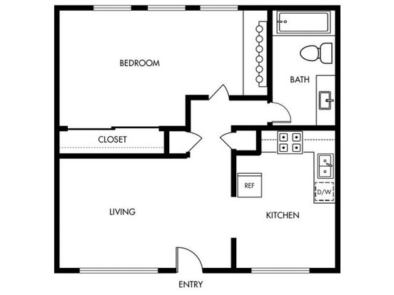 1 Bedroom 1 Bathroom Apartment for rent at Brentwood in Campbell, CA