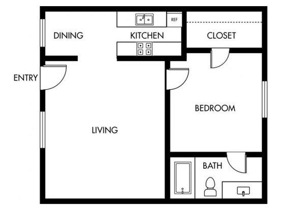 1 Bedroom 1 Bathroom Apartment for rent at Casa Madrid in Cypress, CA