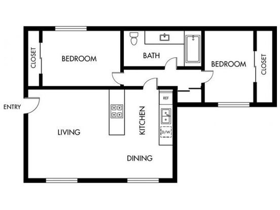 2 Bedrooms 1 Bathroom Apartment for rent at Casa Madrid in Cypress, CA