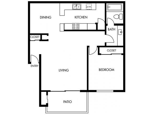 1 Bedroom 1 Bathroom Apartment for rent at Huntington Continental in Huntington Beach, CA