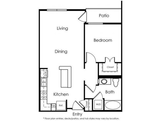 1 Bedroom 1 Bathroom Apartment for rent at Gallery421 in Long Beach, CA
