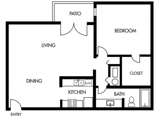 1 Bedroom 1 Bathroom Apartment for rent at Jasmine At Marietta Crossing in Marietta, GA