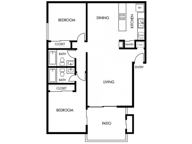 2 Bedrooms 2 Bathrooms Apartment for rent at Huntington Continental in Huntington Beach, CA